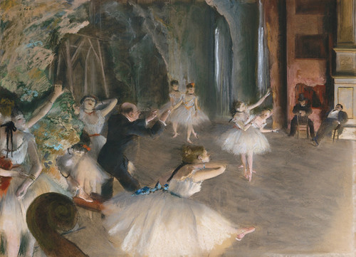 Art Prints of The Rehearsal Onstage by Edgar Degas