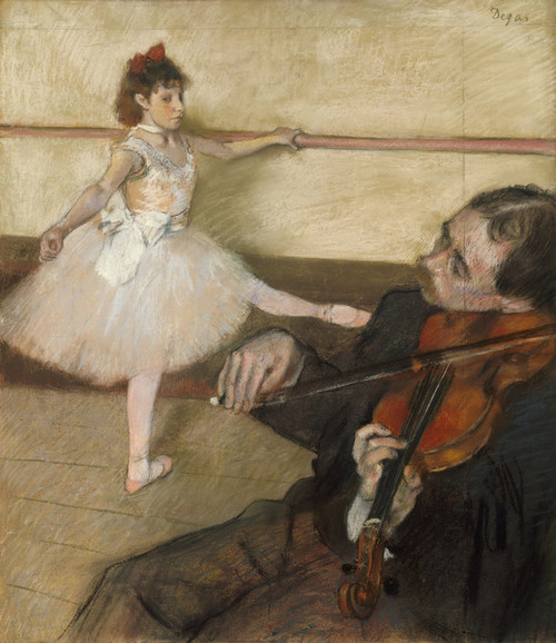 Art Prints of The Dance Lesson 1879 by Edgar Degas
