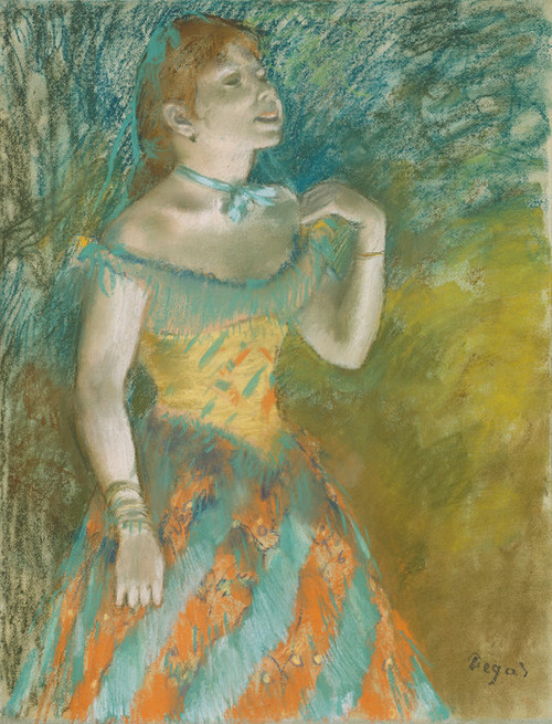 Art Prints of The Singer in Green by Edgar Degas
