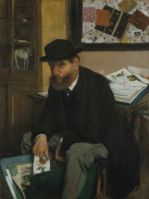 Art Prints of The Collector of Prints by Edgar Degas