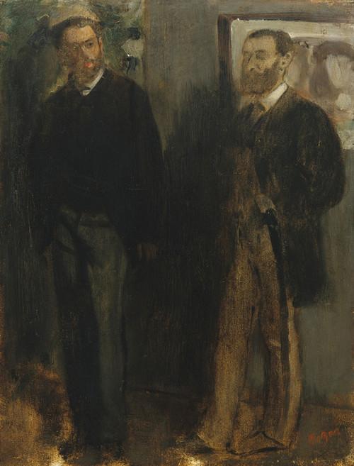Art Prints of Two Men by Edgar Degas