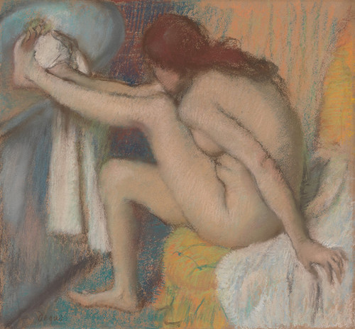Art Prints of Woman Drying Her Foot by Edgar Degas
