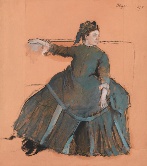 Art Prints of Woman on a Sofa by Edgar Degas