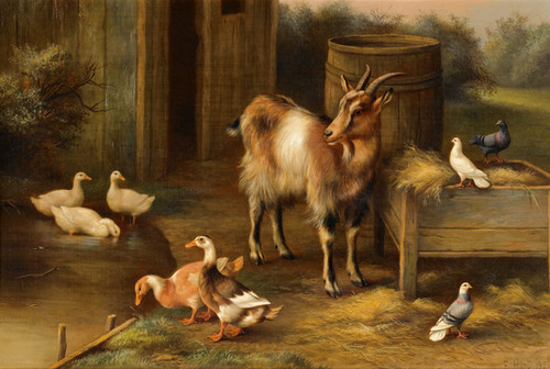 Art Prints of Farmyard Scene II by Edgar Hunt