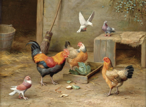 Art Prints of Feeding Time by Edgar Hunt