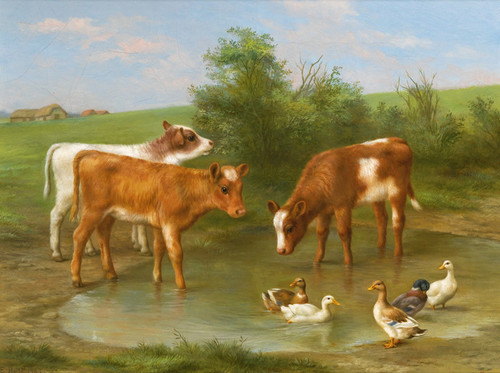 Art Prints of The Watering Place by Edgar Hunt