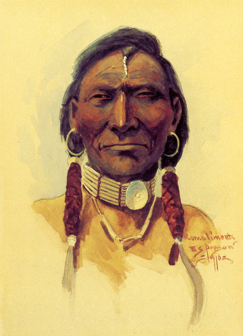 Art Prints of Indian Brave by Edgar Paxson