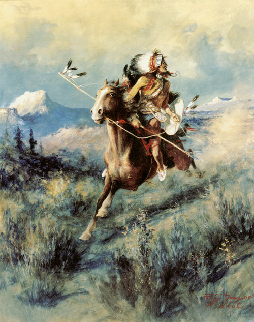 Art Prints of Saving His Scalp by Edgar Paxson