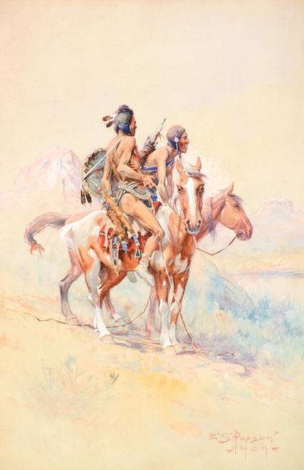 Art Prints of Blackfeet Scouts by Edgar Samuel Paxson