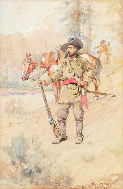 Art Prints of Pierre de la Verendrye Discoverer of the Missouri by Edgar Samuel Paxson
