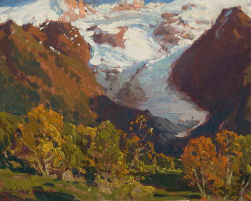 Art Prints of Glacier in Autumn, Chamonix, France by Edgar Payne