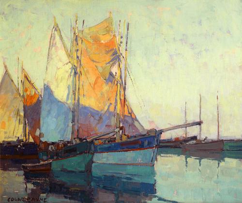 Art Prints of Sailboats at Anchor by Edgar Payne