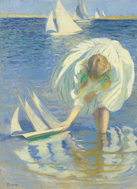 Art Prints of Girl with Sailboat by Edmund Charles Tarbell