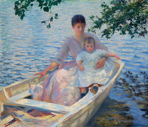Art Prints of Mother and Child in a Boat by Edmund Charles Tarbell