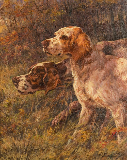 Art Prints of Pointer and Setter by Edmund Henry Osthaus