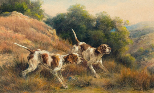 Art Prints of Pointers I by Edmund Henry Osthaus