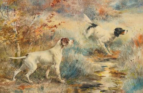 Art Prints of Pointers II by Edmund Henry Osthaus