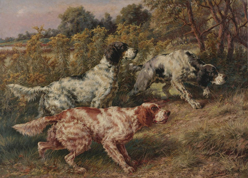 Art Prints of Stalking Setters by Edmund Henry Osthaus