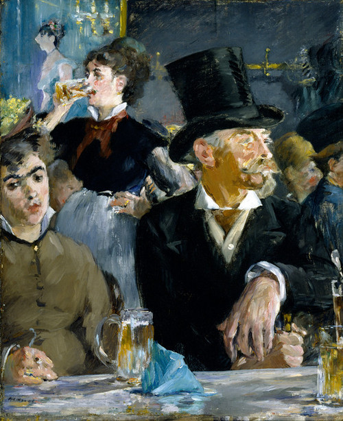 Art Prints of At the Cafe by Edouard Manet