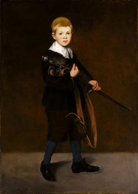 Art Prints of Boy with Sword by Edouard Manet