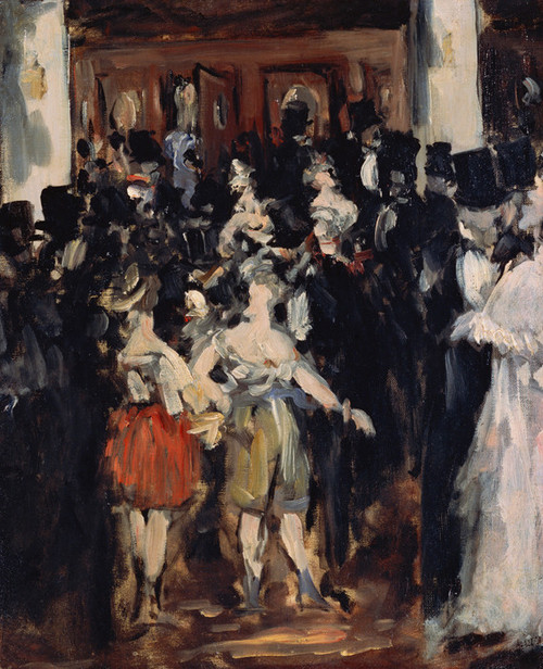 Art Prints of Masked Ball at the Opera by Edouard Manet