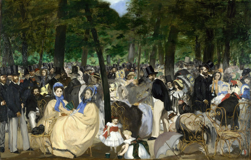 Art Prints of Music in the Tuileries, 1862 by Edouard Manet