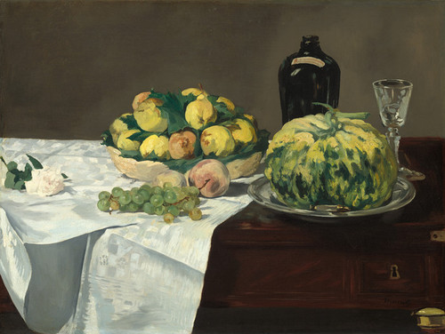 Art Prints of Still Life with Melon and Peaches by Edouard Manet