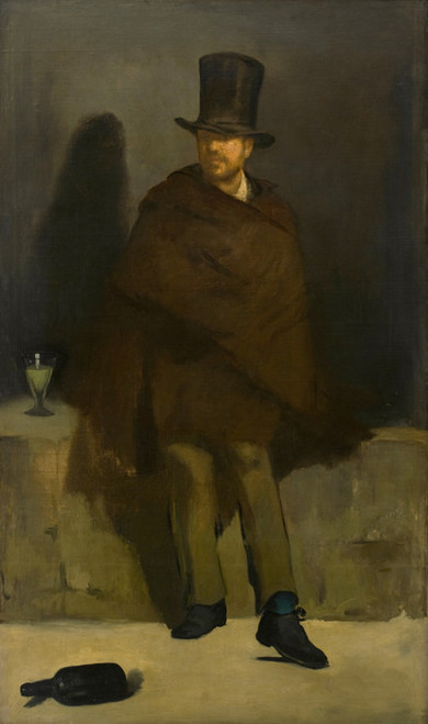 Art Prints of The Absinthe Drinker by Edouard Manet