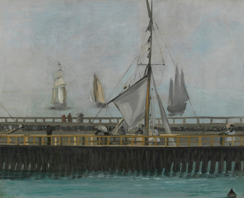 Art Prints of The Jetty of Boulogne Sur Mer by Edouard Manet