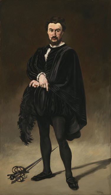Art Prints of The Tragic Actor Rouviere as Hamlet by Edouard Manet