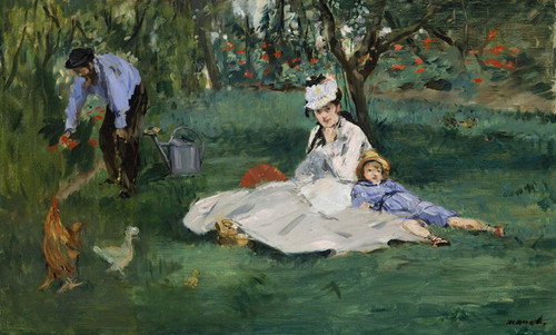 Art Prints of The Monet Family in their Garden at Argenteuil by Edouard Manet