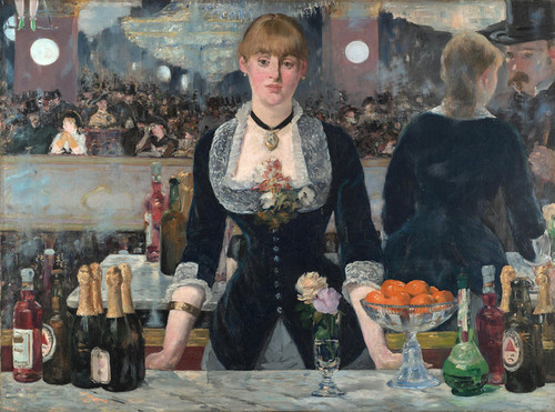 Art Prints of A Bar at the Folies Bergeres by Edouard Manet