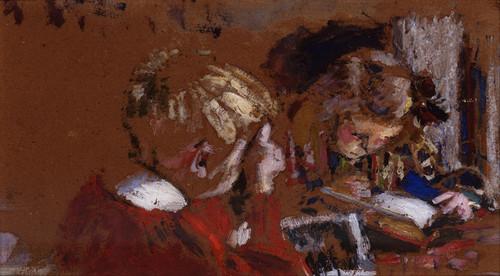 Art Prints of Children Reading by Edouard Vuillard