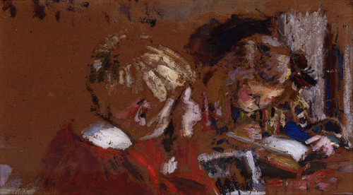 Art Prints of Children Reading by Edouard Vuillard