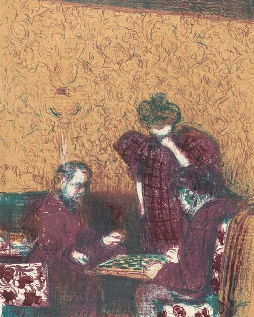 Art Prints of Game of Checkers by Edouard Vuillard