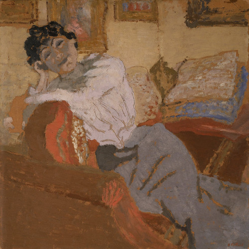 Art Prints of Madame Hessel on the Sofa by Edouard Vuillard