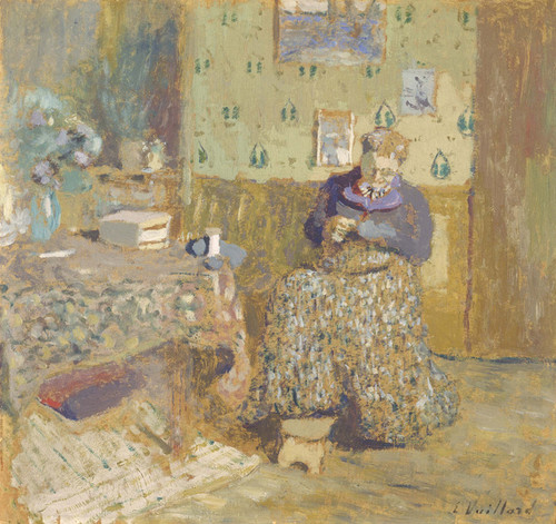 Art Prints of Madame Vuillard Sewing by Edouard Vuillard