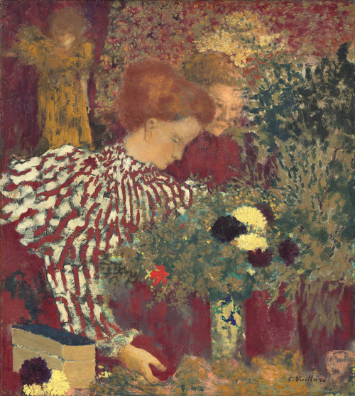Art Prints of Woman in a Striped Dress by Edouard Vuillard