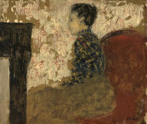 Art Prints of Woman Sitting by the Fireside by Edouard Vuillard