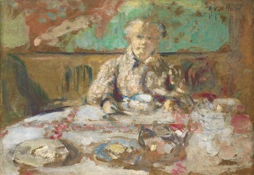 Art Prints of Madame Vuillard at the Breakfast Table by Edouard Vuillard