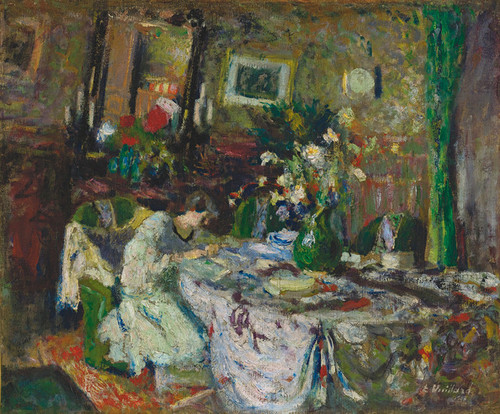 Art Prints of Marcelle Aron in the Dining Room at Red Castle by Edouard Vuillard