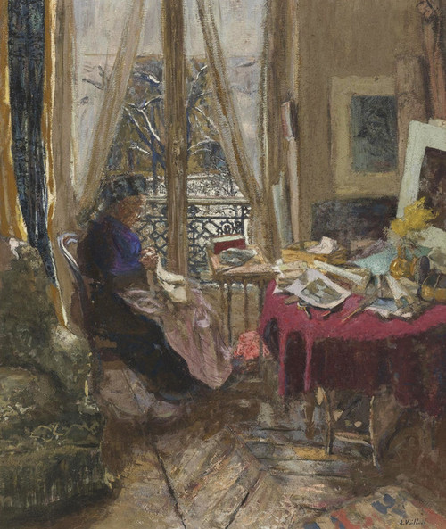 Art Prints of Madame Vuillard on a Snowy Day by Edouard Vuillard