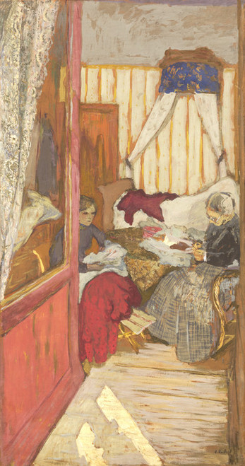 Art Prints of Woman Sewing by Edouard Vuillard