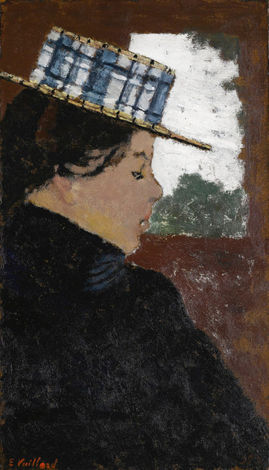 Art Prints of Woman Wearing a Boater Hat by Edouard Vuillard