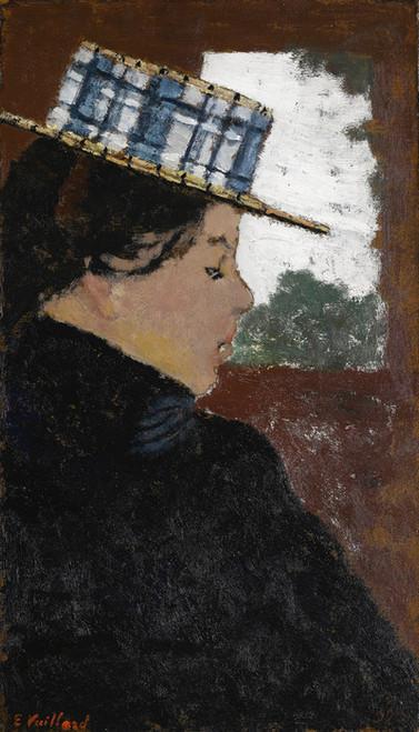 Art Prints of Woman Wearing a Boater Hat by Edouard Vuillard