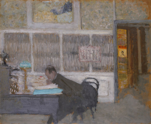 Art Prints of At the Revue Blanche Portrait of Felix Feneon on by Edouard Vuillard