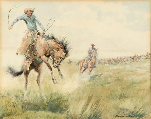 Art Prints of Breaking Him by Edward Borein