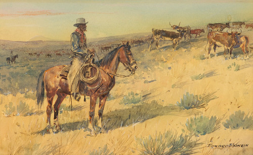 Art Prints of Cattle Drive by Edward Borein