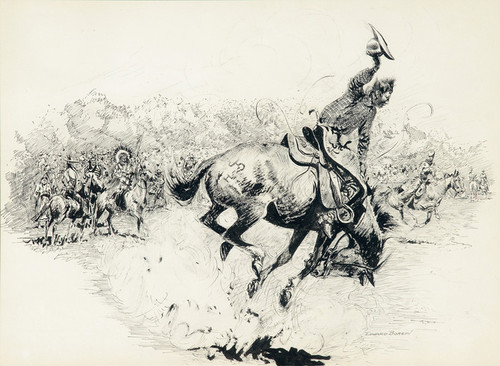 Art Prints of Bucking Horses and all the Hair Raising Events by Edward Borein