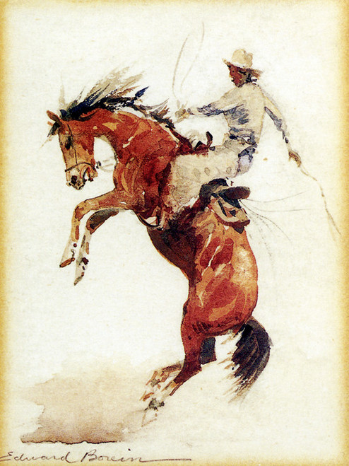 Art Prints of Bucking Bronco by Edward Borein